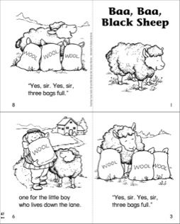 Baa Baa Black Sheep Mini Book Black Sheep Mini Books Baa Baa