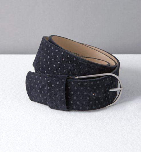 Cintura alta in pelle blu - Promod