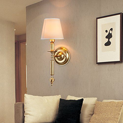 LED Metal Wall LightsModern Contemporary Retro Sconce Night LightCopper Lamp American Country Bedside Aisle Lights Scandinavian Living Room