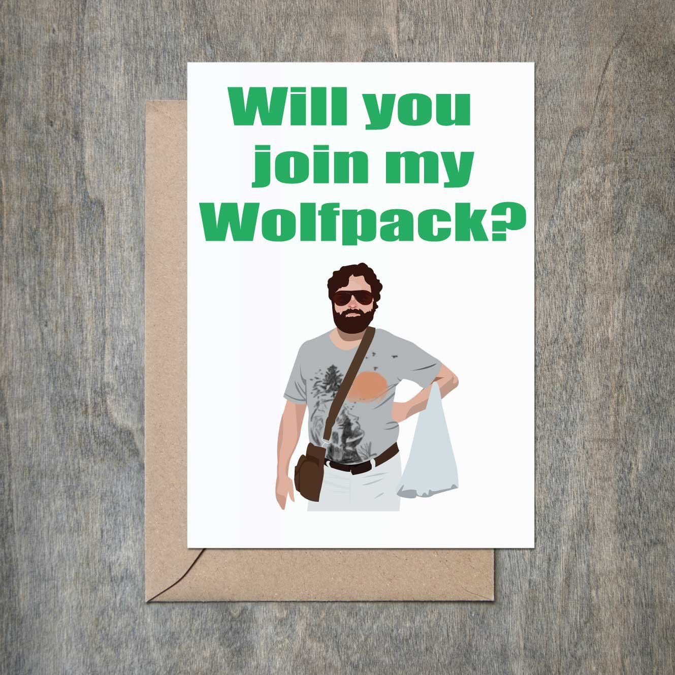 Will You Join My Wolfpack Card. Will You Be My Groomsmen