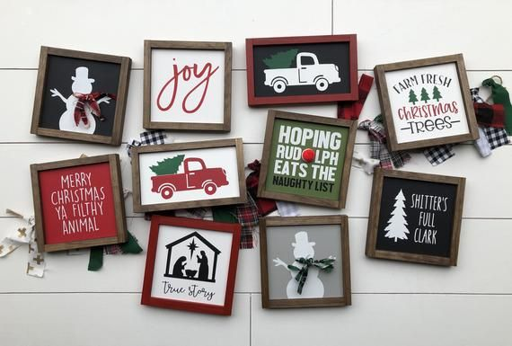 Christmas signs / Christmas decor / wooden signs