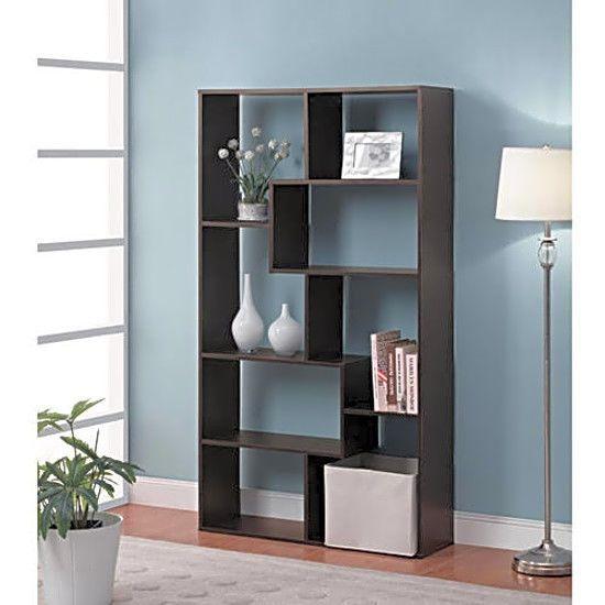 8 Shelf Wood Bookcase Maximum Storage Organizer Display Bookshelf