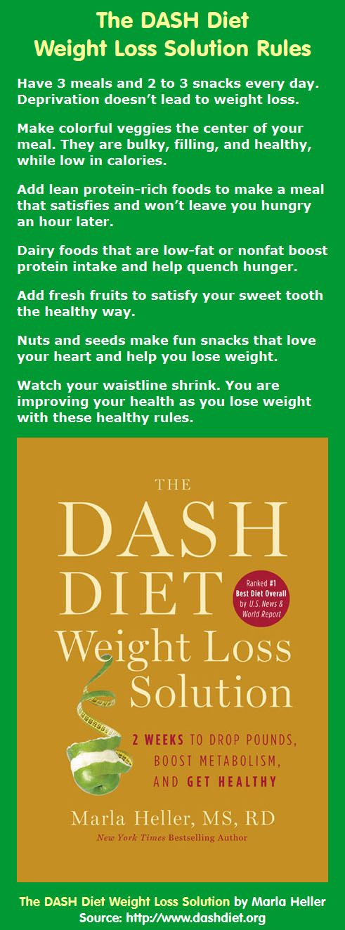 Want to lose weight without feeling like you're on a diet? Check out Marla Heller's rules from The DASH Diet Weight Loss Solution . . .