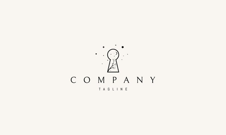 Keyhole Vector Logo Instant Download Full Vectors 100 Editable And Scalable Cmyk Colors Print Ready In 2021 Vector Logo Logos Logo Design