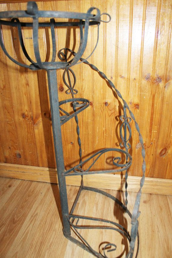 Vintage 1950 S Wrought Iron Metal Spiral By Barrettboutique