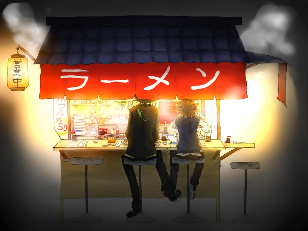 Anime noodle stand Reborn katekyo hitman, Hitman reborn