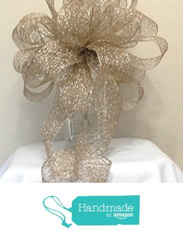 Christmas Tree Topper Bow - Large Gold Christmas Tree Topper Bow