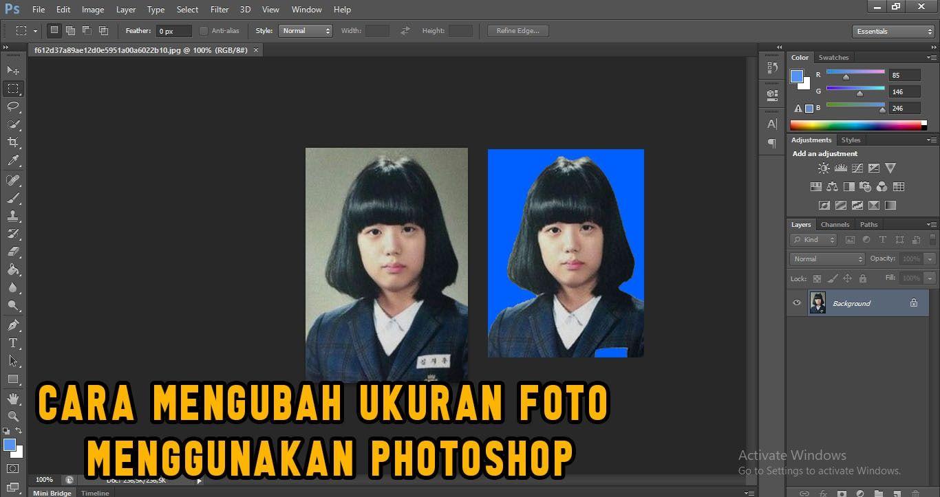 3 Cara Mengubah Ukuran Foto Menjadi 2x3 3x4 4x6 Gasampek 2 Menit Photoshop Pengukur Subjek