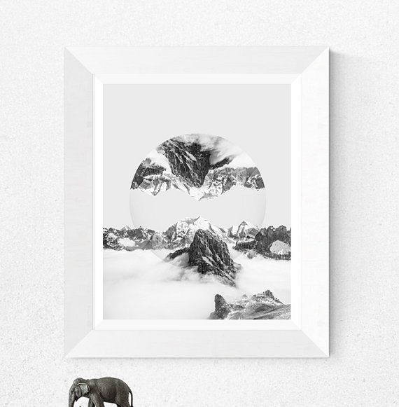 Print 214 : Black and White Mountain Print, Black and White Photography, Black and White Wall Art, Modern Scandinavian, Reflection print, Modern print  Type: Digital art print. This is a digital product with instant download.  Orientation: Vertical  Print sizes: 1. 4:5 ratio for printing 4x5inc / 8x10inc / 16x20inc / 40x50cm / 60x75cm  2. International A3/A4/A5 ratio for printing    ABOUT YOUR PURCHASE:  - This is a digital download, therefore, no physical item will be shipped.  - This image…