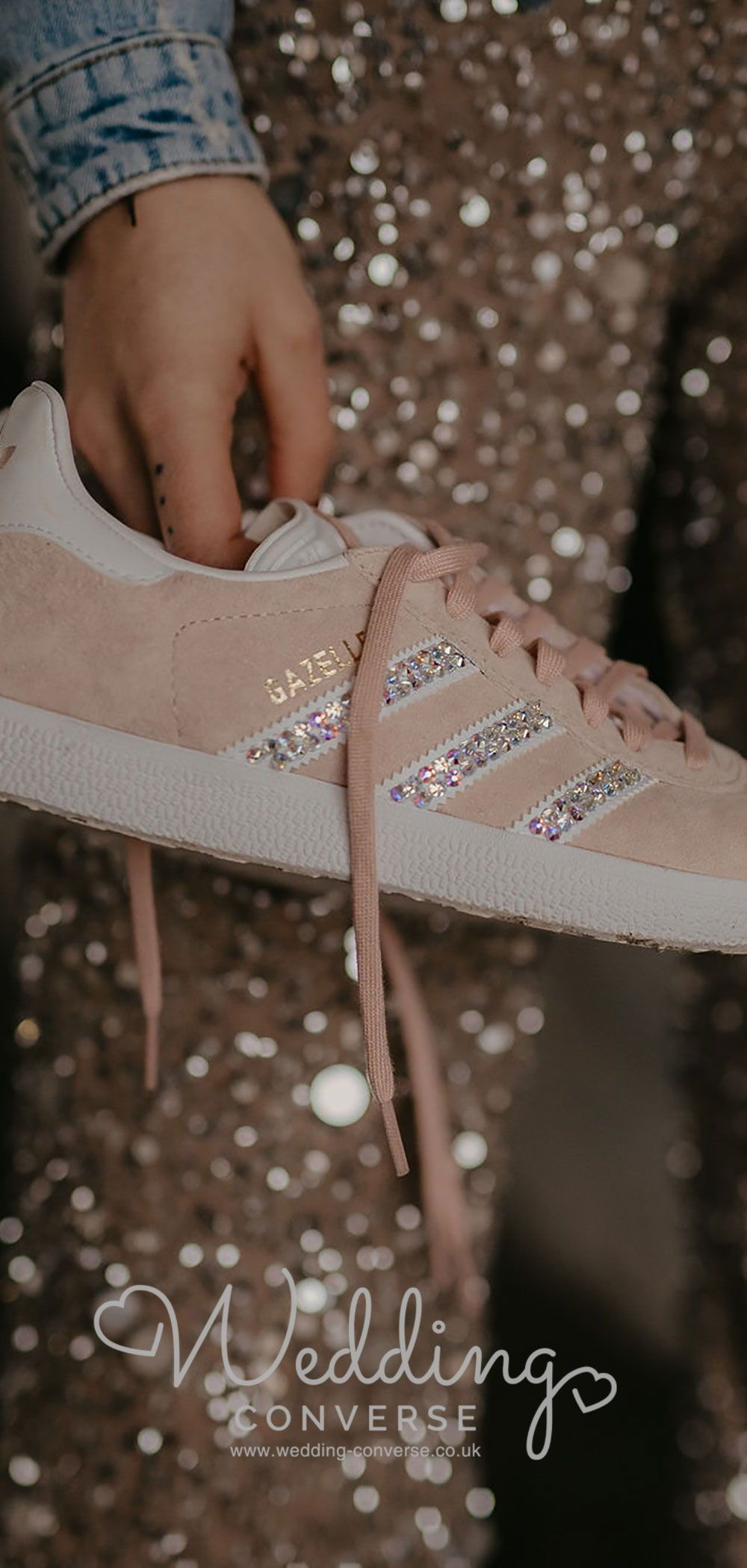 Customised Mrs Adidas Wedding Trainers Gazelle in 2020