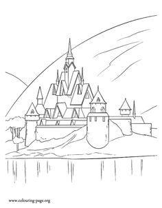 Pattern Castle Arendelle Buscar Con Google Frozen