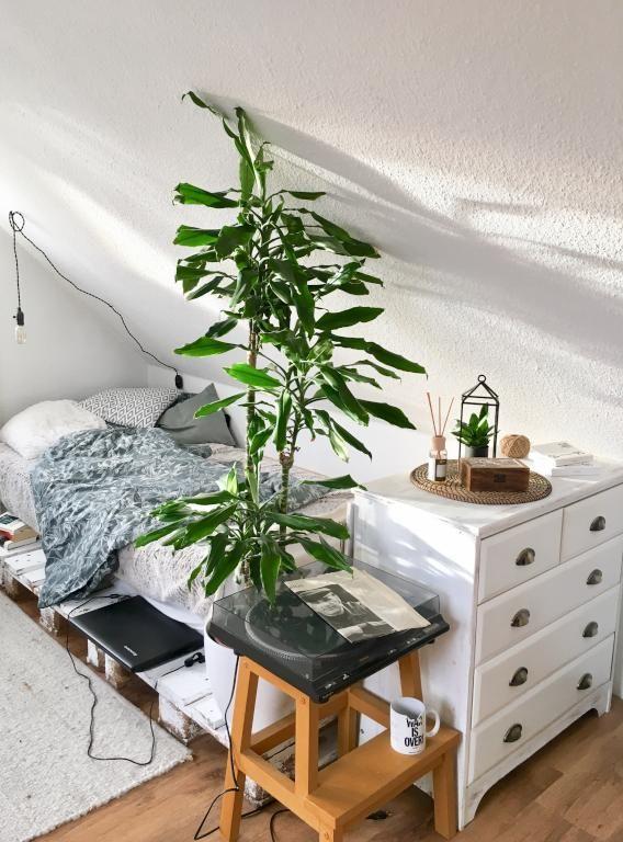 Superschönes und gemütliches Palettenbett #diy #Bett #Palettenbett