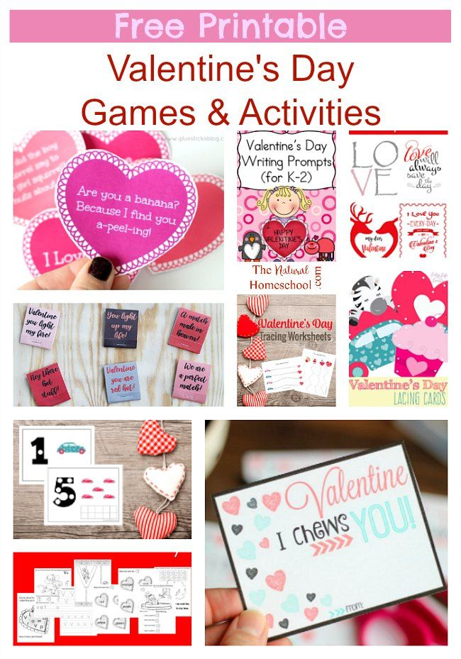 Free Printable Valentine\'s Day Games & Activities | Free printable ...