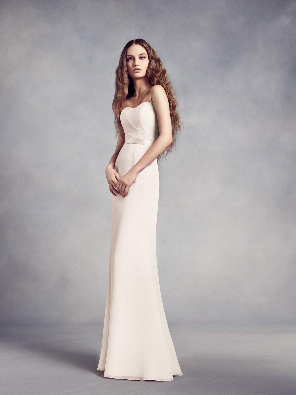A modern \'maid should don this strapless chiffon bridesmaid dress ...