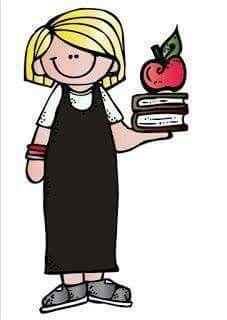 Nina Estudiosa Maestra Caricatura Caricaturas De Ninos Imagenes Para Maestros