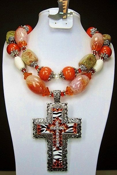 Cross Necklace Religious Necklace-Western Cross Necklace-Native Necklace Beaded Necklace Gold Cross Necklace Beadwork Cross