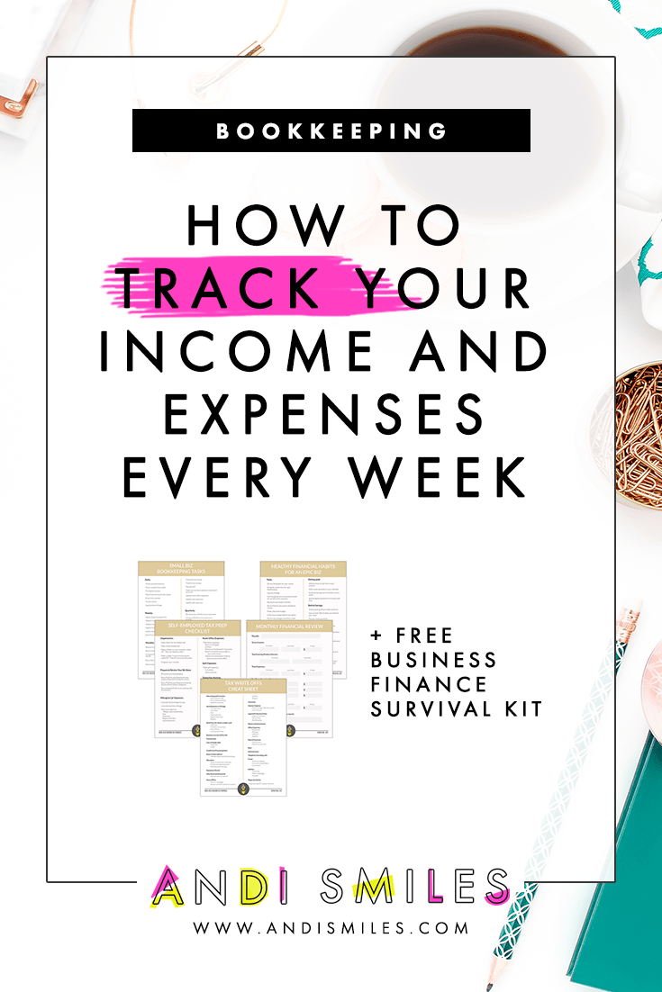 How To Track Your Income And Expenses Every Week Small Business Finance Business Finance Finance