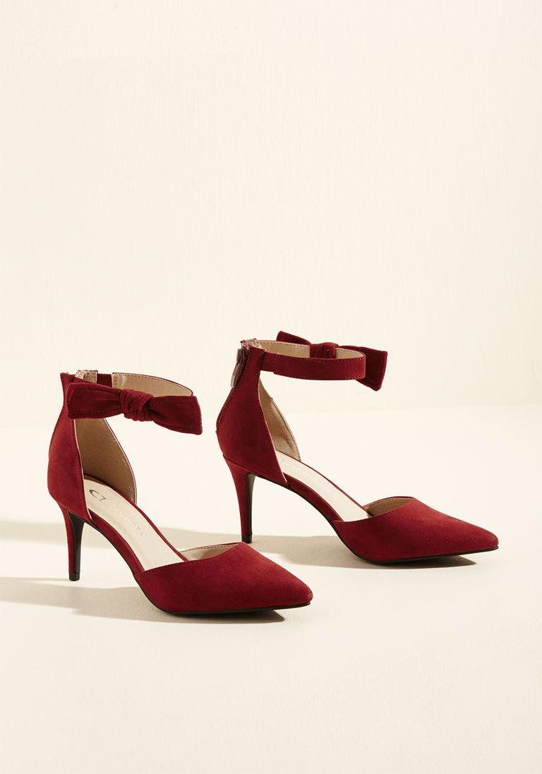 9735e0534831 Flawless Footfalls Mid Heel in Deep Red