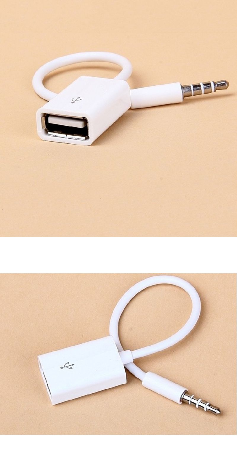 Brand New 35mm Jack To Usb Male Female Cable Converter Cord Kabel Hdmi Extension 20cm Audio Line