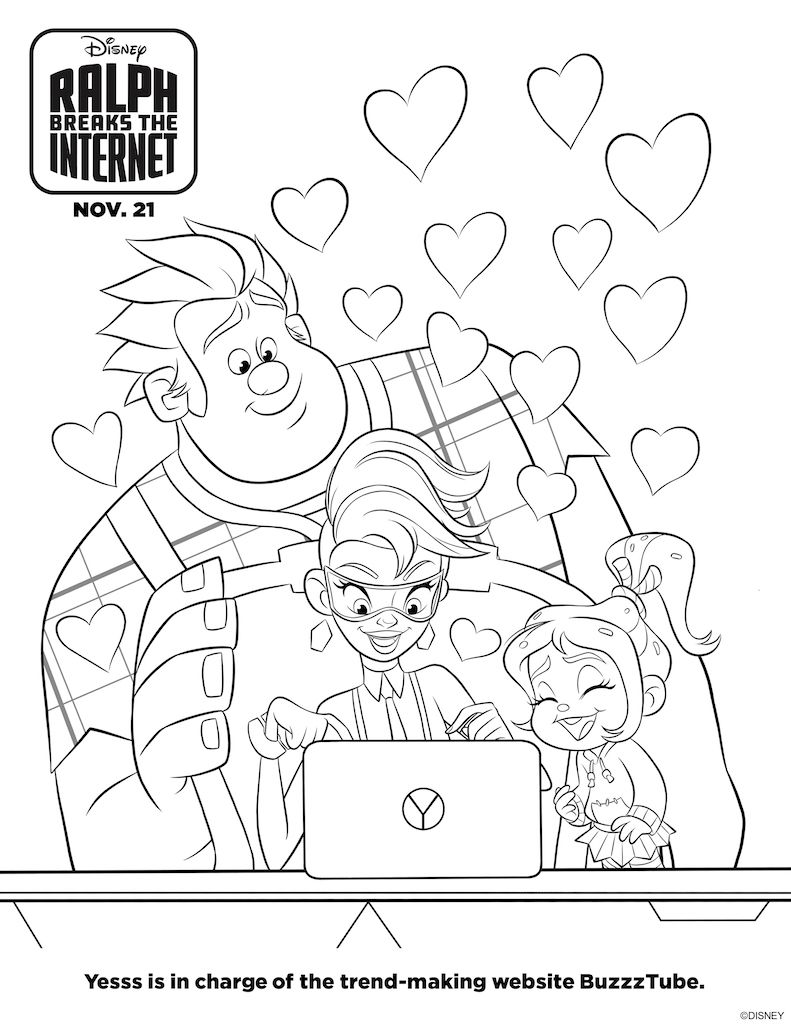 Ralph Breaks the Internet Free Printable Activity Sheets ...