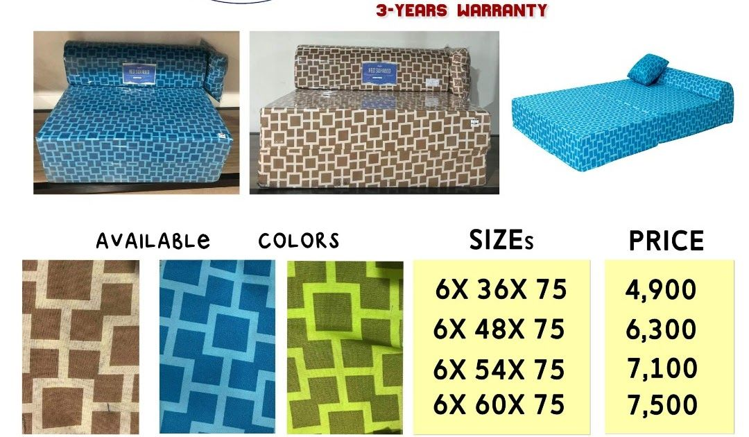 Uratex Produces Foam That Is Affordable And High Quality A Rare Combination That Is Hard To Be Found In Foam Market Th In 2020 Double Sofa Bed Sofa Bed Sofa Bed Design