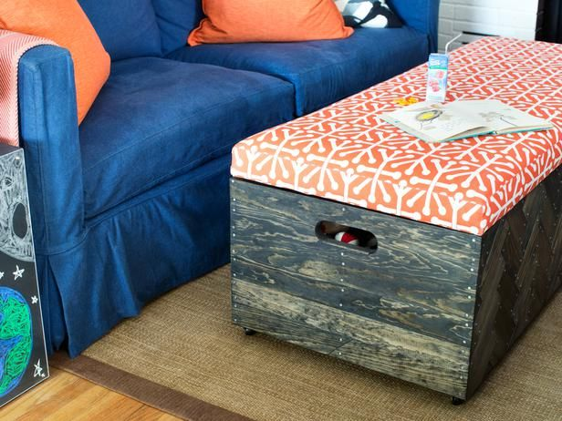 Make A Herringbone Wood Toy Box Storage Ottoman Wood Toy Box Herringbone Wood Toy Storage Boxes