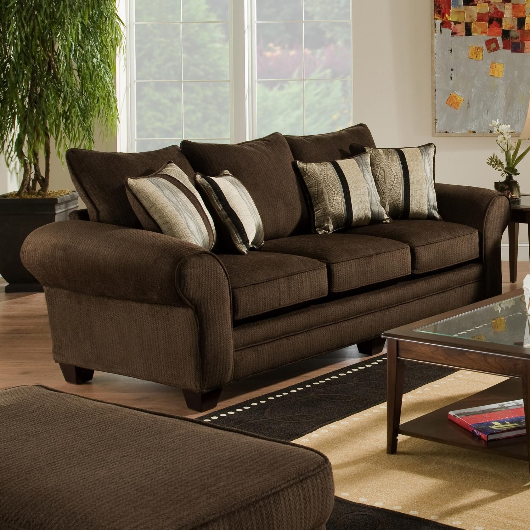 3700 Upholstered Stationary Sofa by American Furniture