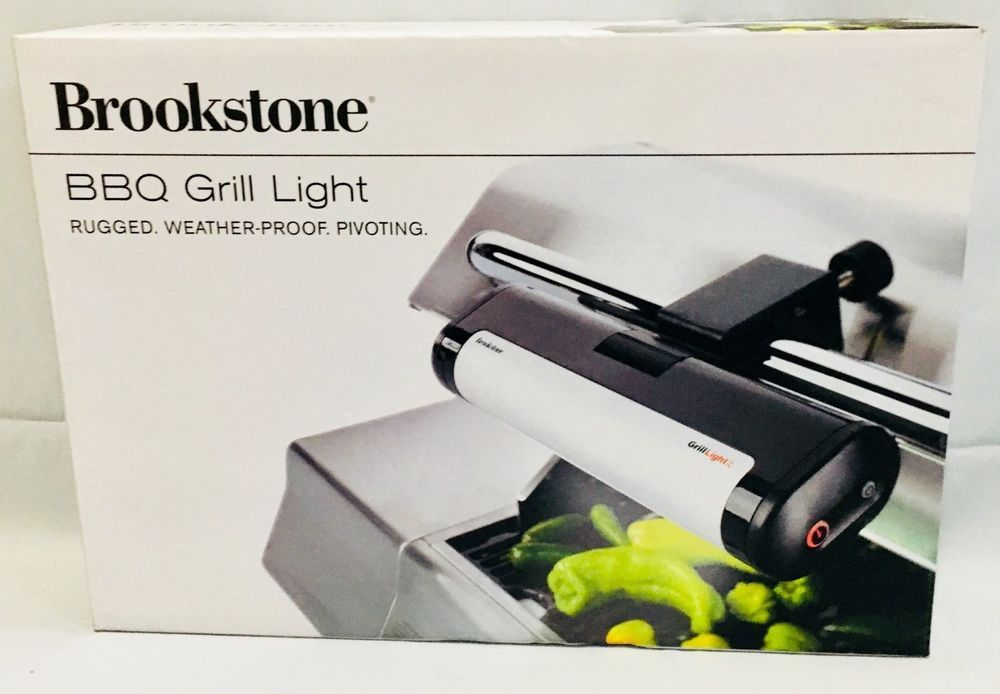 Brookstone Bbq Grill Light Weather Proof Pivoting Led Lights