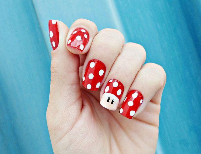 Mario Nail art | Make up, Butterfly nail art and Nail nail
