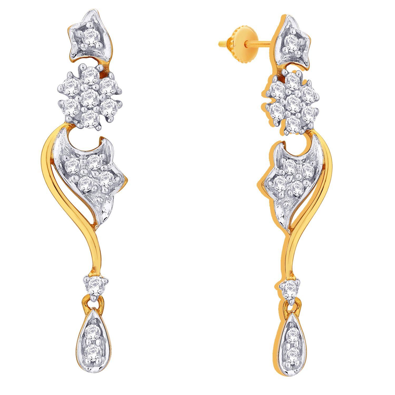 D damas gold diamond earrings | Errings | Pinterest | Diamond ...