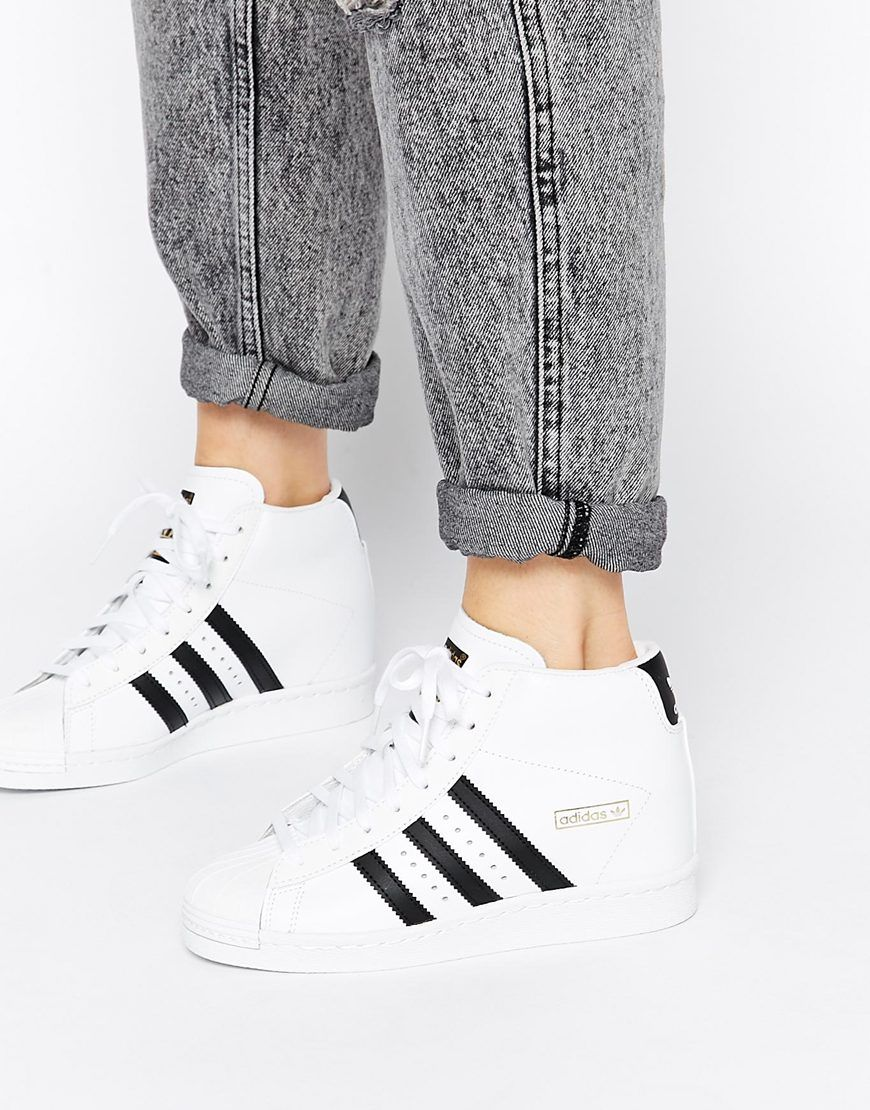 on sale 55de7 2a419 The Adidas trainers are so perfect! High tops are the best in the summer!