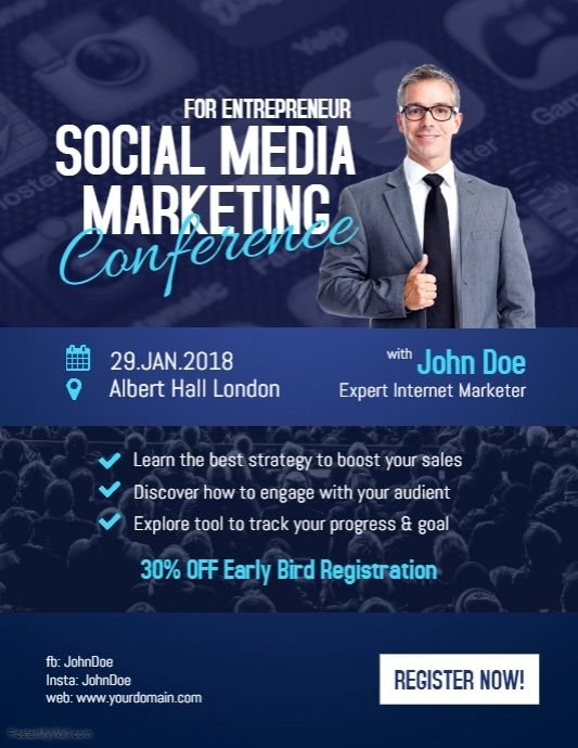 Social Media Marketing Conference For Entrepreneur  Business
