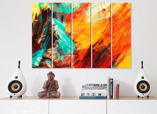 Abstract splashes canvas print art wall decor office home panel also best oil painting prints images on pinterest rh