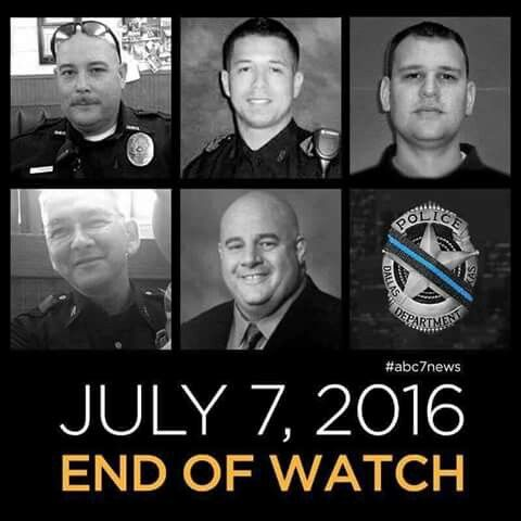 #ThinBlueLine #Heroes #EOW07072016 #PrayersForDallasPD