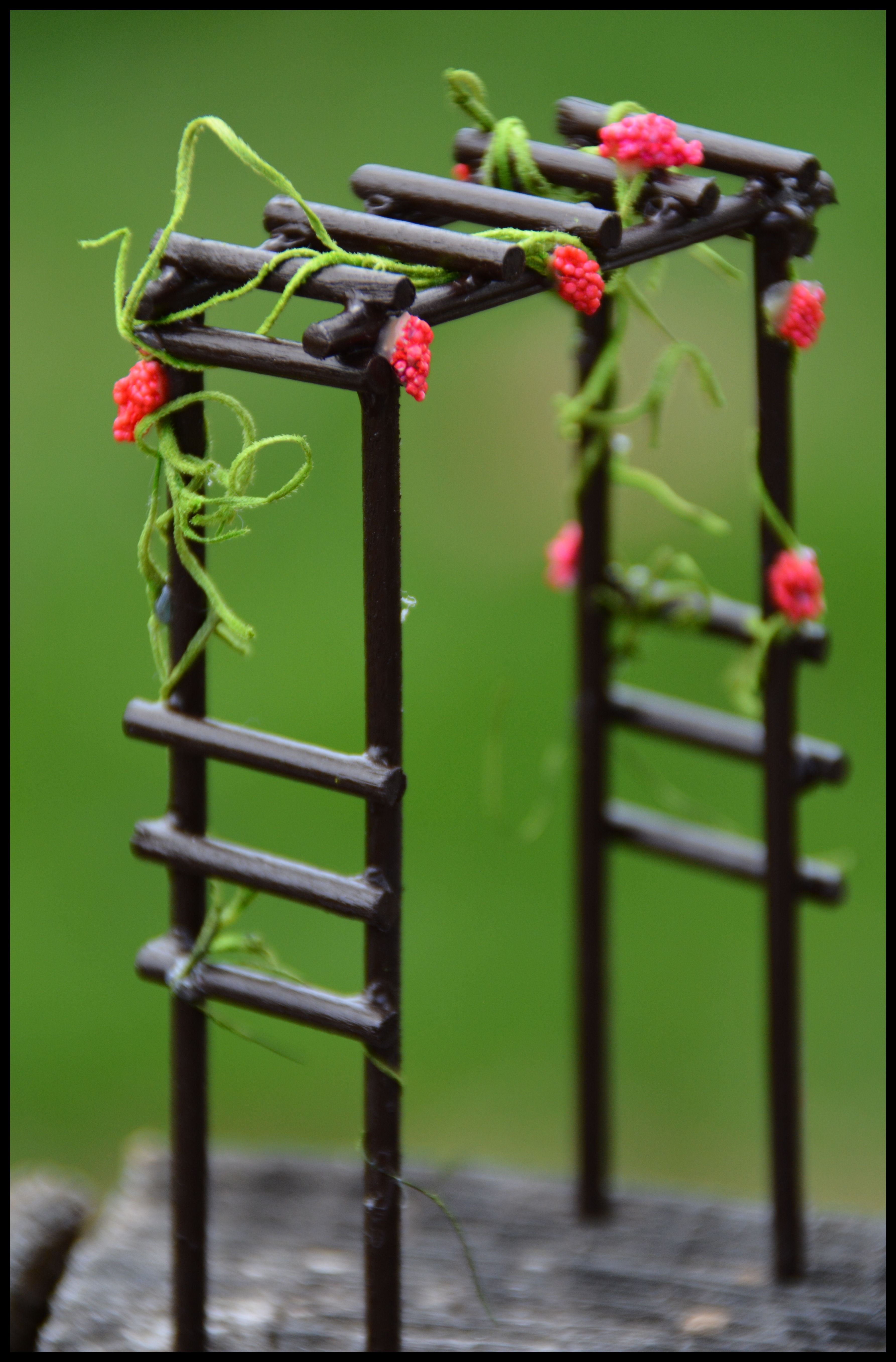 Miniature Faery Garden Trellis I Created From Wood Sticks 400 x 300