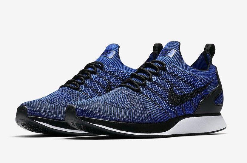 b74730b35a7fd Nike Air Zoom Mariah Flyknit Racer Running Shoes Mens 11.5 Black Blue  918264 007  Nike  RunningShoes