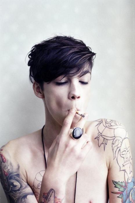 Hot lesbian with a boy