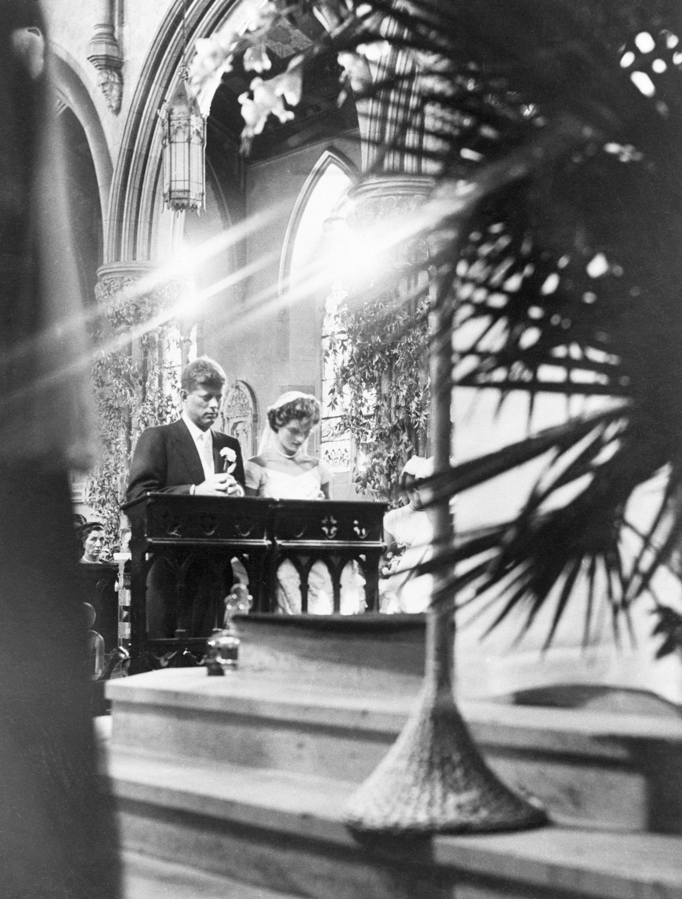 Jackie kennedy wedding dress on display  MustSee Photos From JFK And Jackie Kennedyus Glamorous Wedding