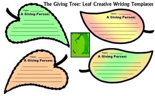 The Giving Tree Lesson Plans Shel Silverstein Shel Silverstein