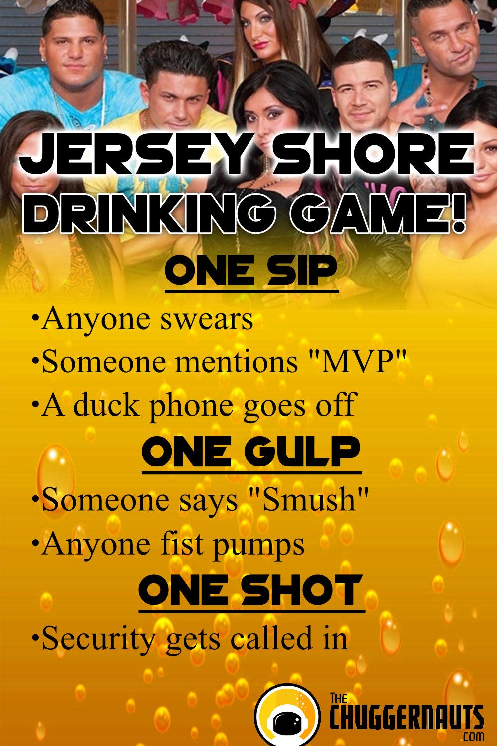 23+ Jersey Shore Drinking Game  Pics