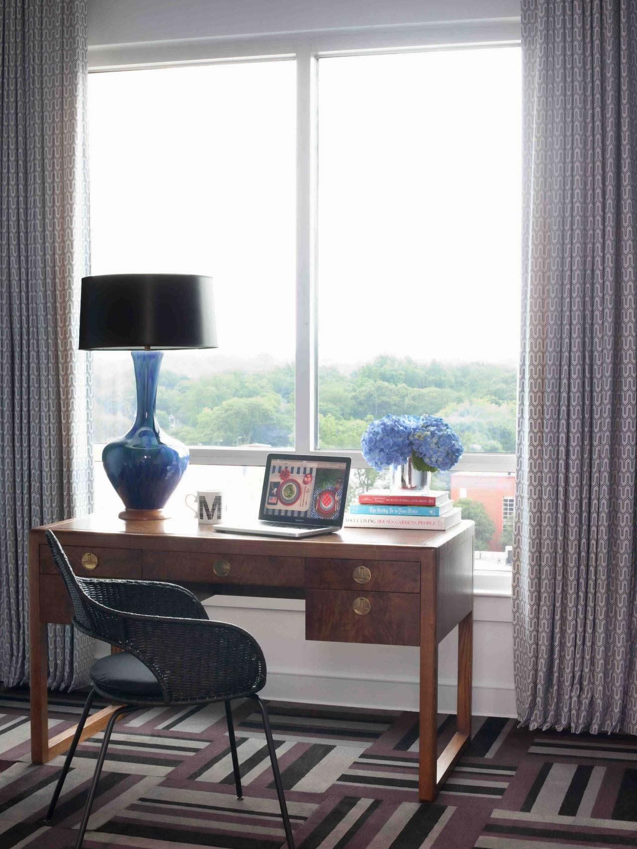 Small Home Office Ideas | Window decorating, Bedroom windows and Desks