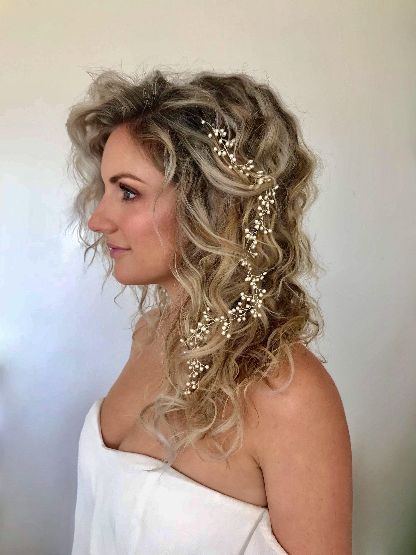 beach wedding hair vine, bohemian bridal hair vine,swarovski