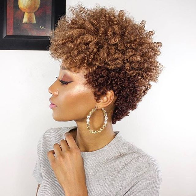 This short natural hair style by @modelesque_nic is so pretty ...
