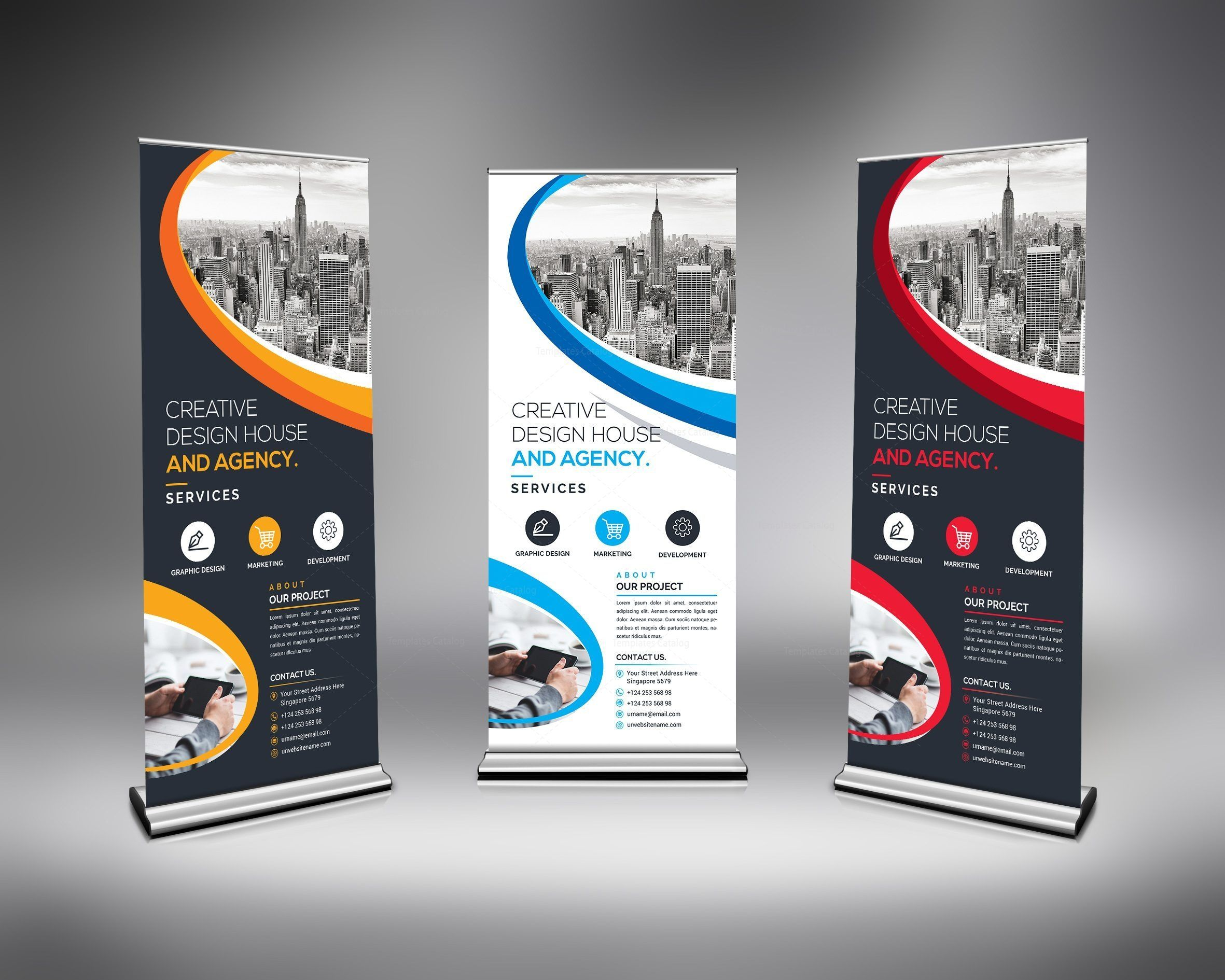 Best Roll Up Banner Template 7 Pull Up Banner Design Roller Banner Design Banner Template Design