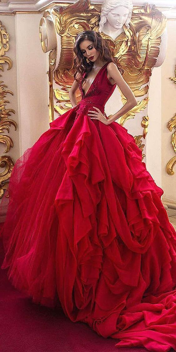 60+ Beautiful Red Wedding Dress Inspiration | Pinterest | Red ...