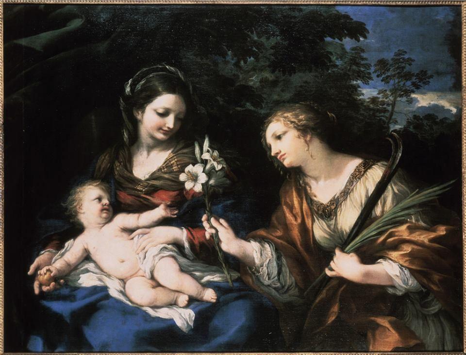 Bambini Dipinti ~ La madonna con il bambino e santa martina un dipinto di pietro da