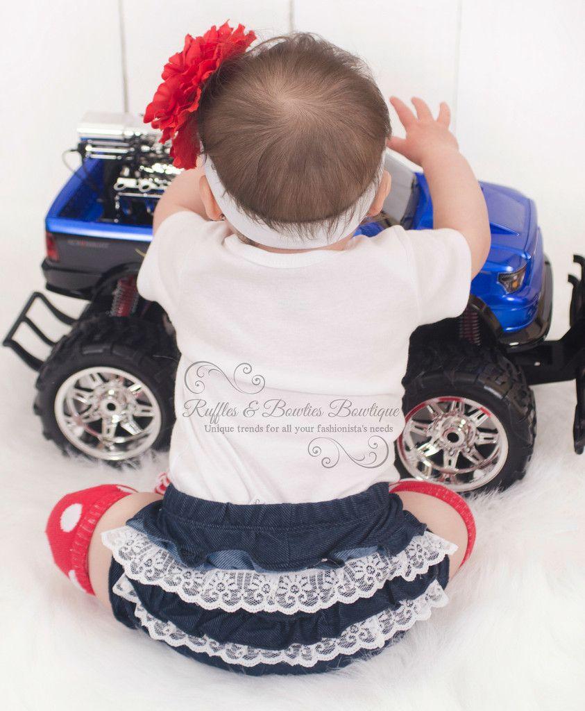 Baby girl car toys  HANDMADE  Denim Lace Ruffle Diaper Cover Tutu Cowgirl Denim tutu