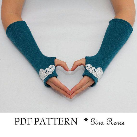 Fingerless Gloves Pattern. PDF Glove Sewing Pattern. | Kira\'s stuff ...