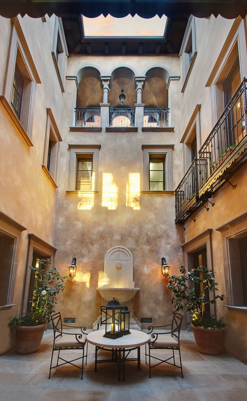 Italianate Style House Interior Italian Villa Internal Covered Courtyard Gorgeous