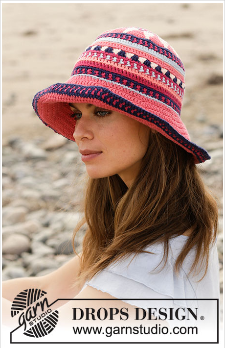 Mi Rincón del Tejido ✿ ❤  Como hacer un sombrero a crochet o ganchillo con  patrón multicolor (Tallas S M L XL) - How to crochet a hat with multicolored  ... 53f66dde5fe